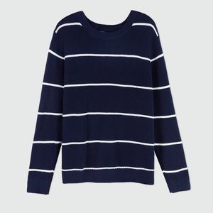 Oak + Fort Navy and White Stripe Sweater